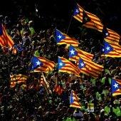 Manifestación en Barcelona con motivo de la Diada en 2017