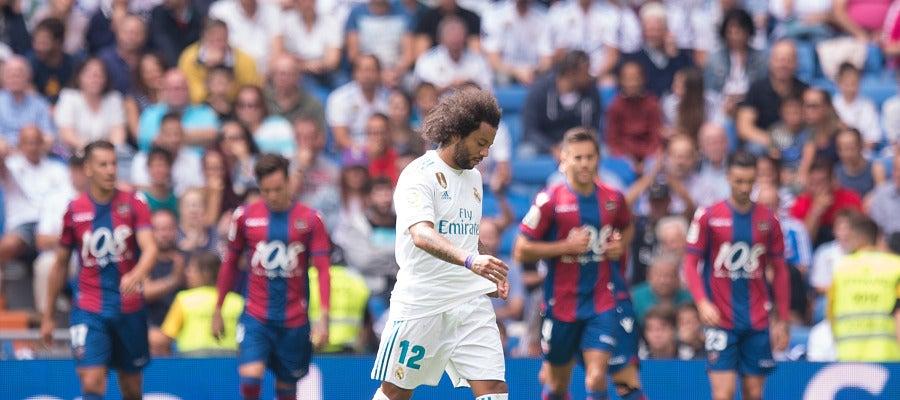 Marcelo, cabizbajo contra el Levante