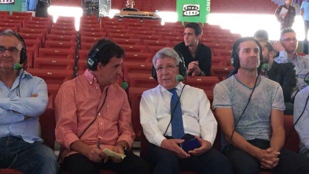 De la Morena estrena el Wanda Metropolitano con Enrique Cerezo.