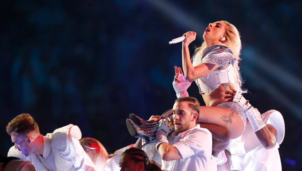 La cantante Lady Gaga durante un concierto