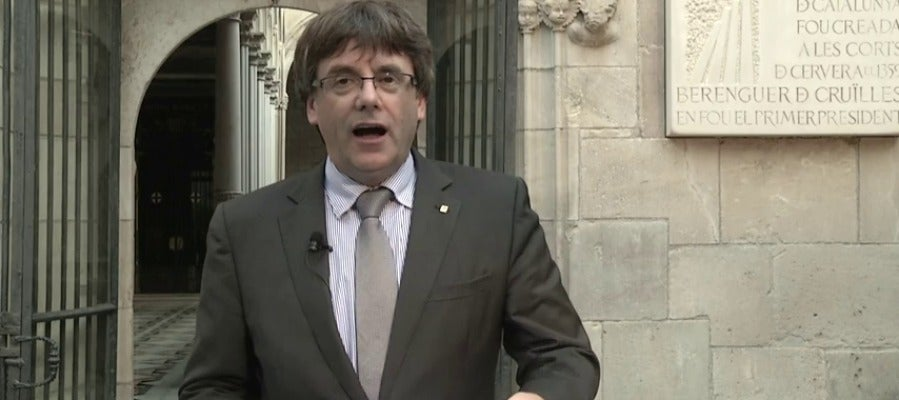 Mensaje de Puigdemont sobre el referéndum