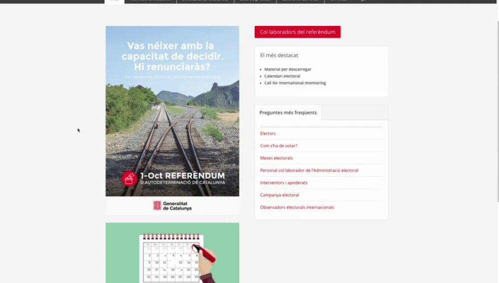 Puigdemont 'tuitea' el link a la web que revela dónde se podrá votar en el referéndum del 1-O