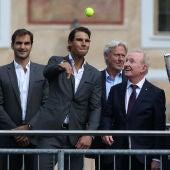 Federer, Nadal, Borg, Rod Laver y John McEnroe, en la presentación de la Laver Cup