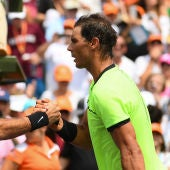 Roger Federer y Rafa Nadal en el Miami Open