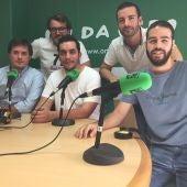 Josema San-Matías, Noé Gomis, David Marín, Monserrate Hernández y Adrián Díaz, en la Tertulia del Deporte de Onda Cero Elche.