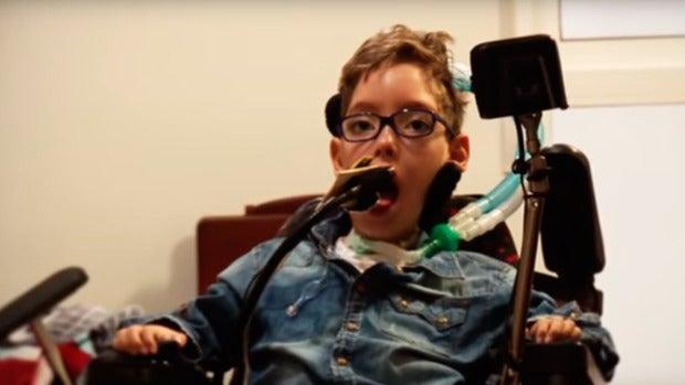 La valentía de Miguel, un niño de 9 años con miopatía nemalimica