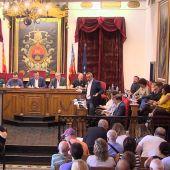 Momento del Pleno Municipal de septiembre en Elche