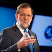 Mariano Rajoy ante los medios (Archivos)