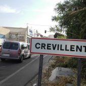 Acceso a Crevillent desde la carretara que une la localidad con Elche