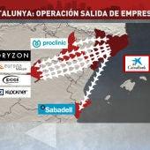 Cataluña: operación salida de empresas