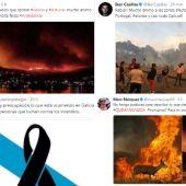 Solidaridad de los deportistas con los afectados por los incendios