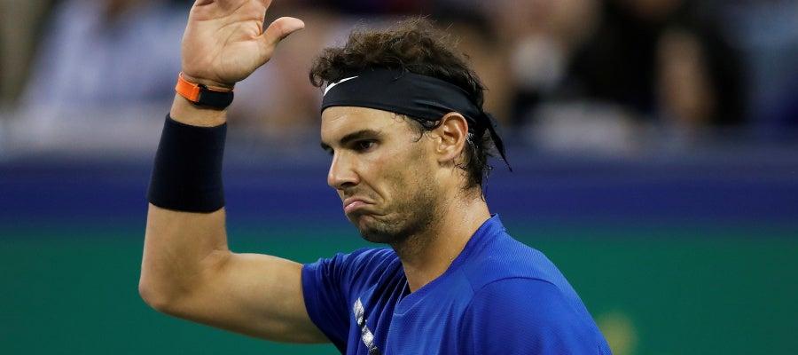 Nadal lamenta un punto en la final contra Federer en Shanghai