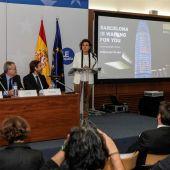 Dolors Montserrat, en la presentación de la candidatura de Barcelona para albergar la sede de la EMA