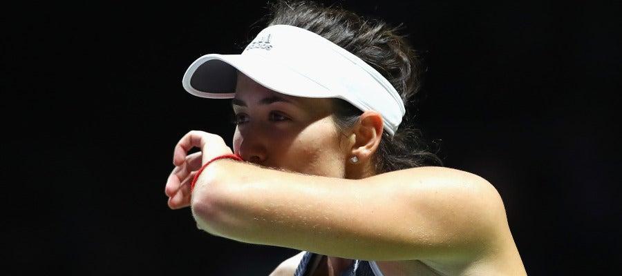 Muguruza, durante su partido contra Venus Williams