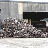 Una planta de residuos