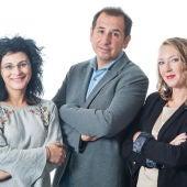 Chelo Bustos, Paco Muñoz y Elka Dimitrova