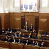 El presidente del Parlamento, Nabih Berri, en una sesión de la Cámara en Beirut (Líbano)