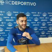 Lucas Pérez, ante Málaga.