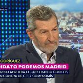 """El ex JEMAD Julio Rodríguez: """"Vamos a convencer a Manuela Carmena para que siga en el Ayuntamiento de Madrid"""""""