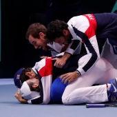 El equipo de Francia celebra su triunfo en la Copa Davis