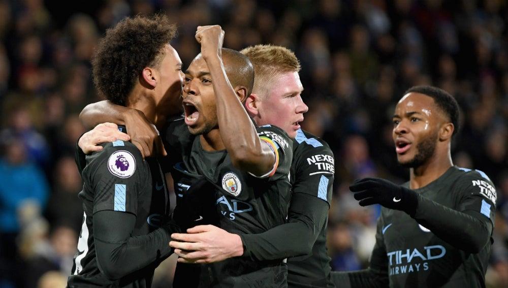 El City celebra un gol