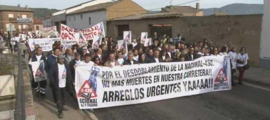 Manifestación de los municipios de la Nacional-430