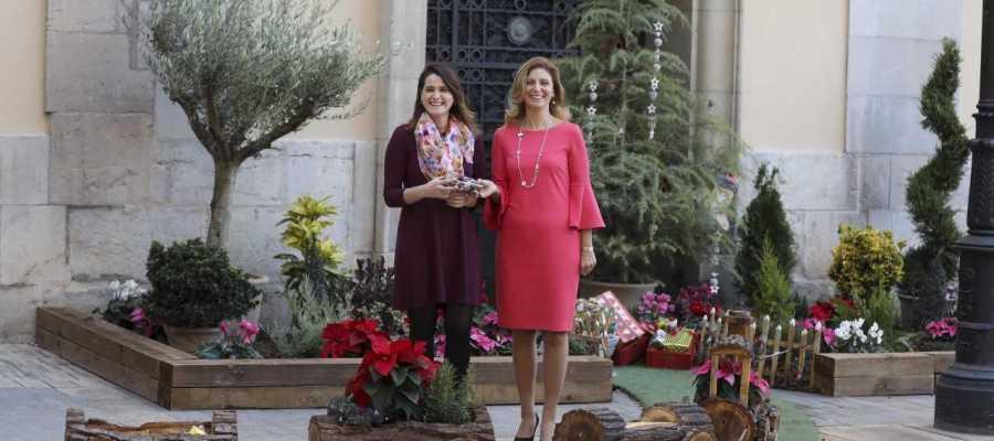 Jardines navideños con encanto y sostenibles