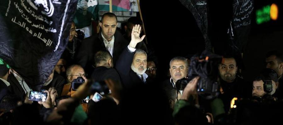 El principal líder de la organización Hamas, Sheikh Ismaeil Haneiya