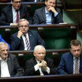 El líder de líder del partido Ley y Justicia, Jaroslaw Kaczynski, en Varsovia (Polonia)