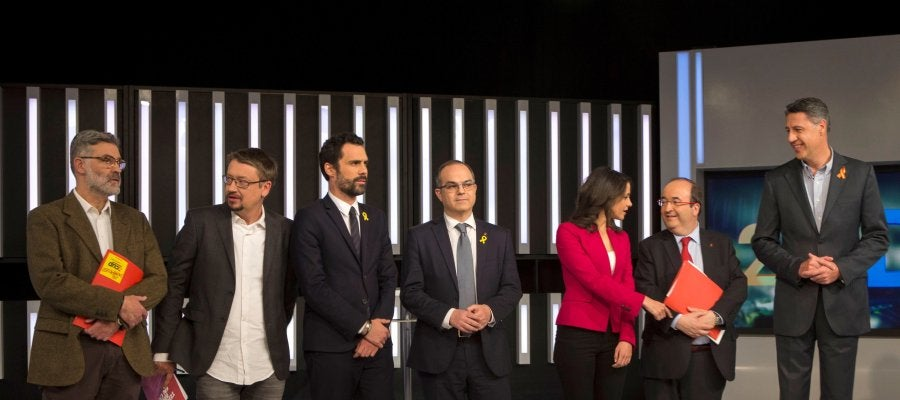 Primer debate antes de las elecciones catalanas del 21-D