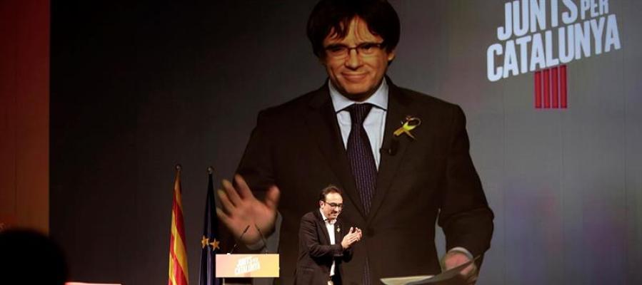 El número uno de Junts per Catalunya, Carles Puigdemont
