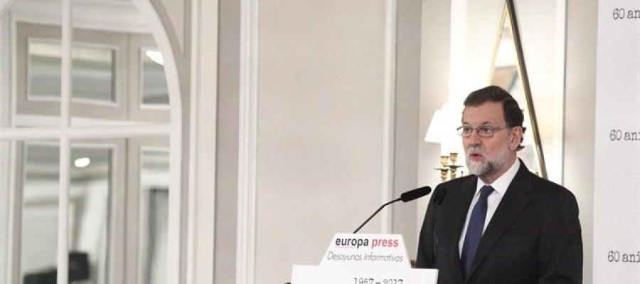 Mariano Rajoy en los desayunos informativos de Europa Press