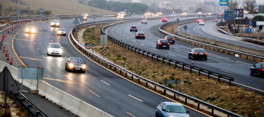 Tráfico fluido en las carreteras españolas