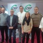 Miembros de la dirección provincial de CSIF