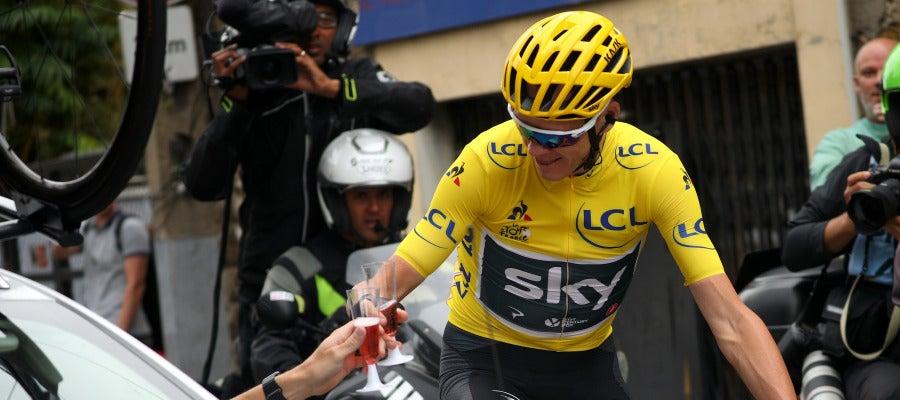 Chris Froome, en la última etapa del Tour 2017