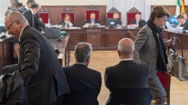 José Antonio Griñán y Manuel Chaves en el juicio de los ERE