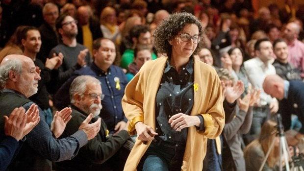 Marta Rovira durante un acto electoral en Girona