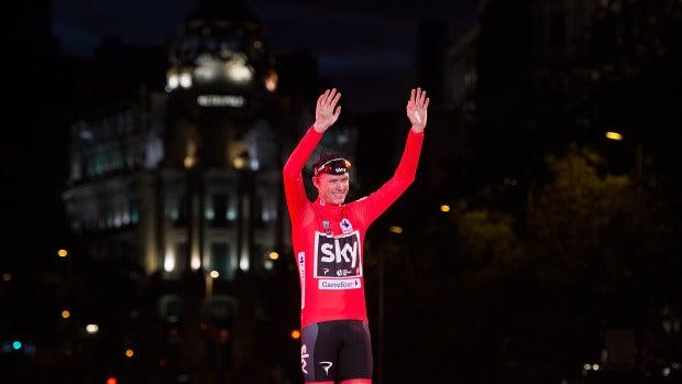 Chris Froome celebra su triunfo en la Vuelta