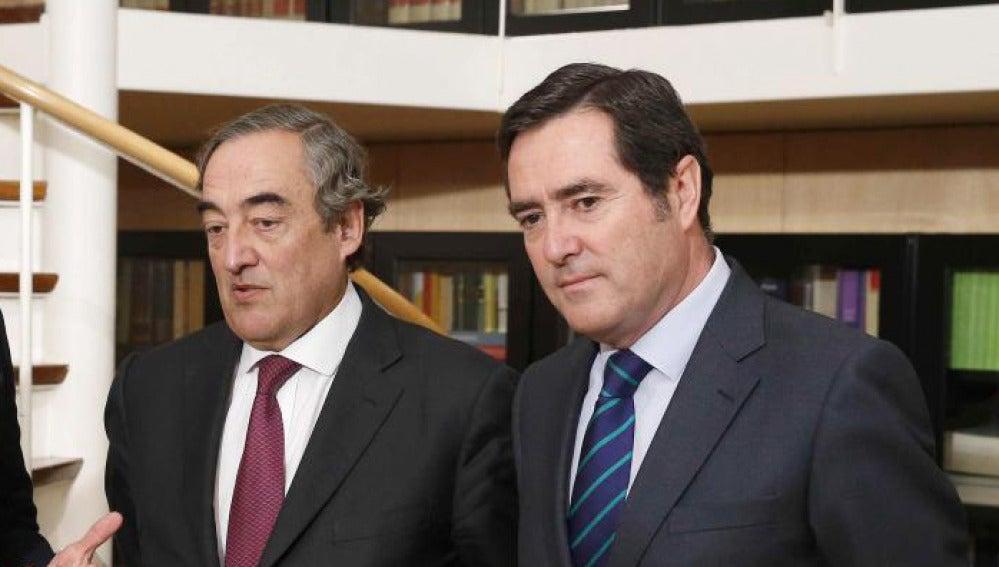 Juan Rosell y Antonio Garamendi