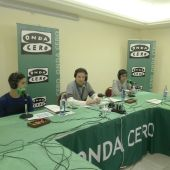 Joseba, David y juan Ignacio con José Ramón de La Morena en El Transistor