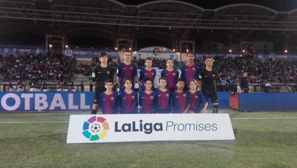 La plantilla alevín del FC Barcelona en Arona