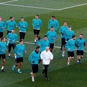 El Real Madrid durante el entrenamiento
