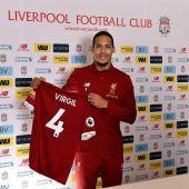 Van Dijk, presentado con el Liverpool