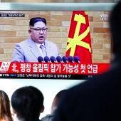 El líder norcoreano, Kim Jong-un, en su tradicional discurso de Año Nuevo