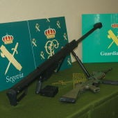 Armas incautadas por la Guardia Civil de Segovia