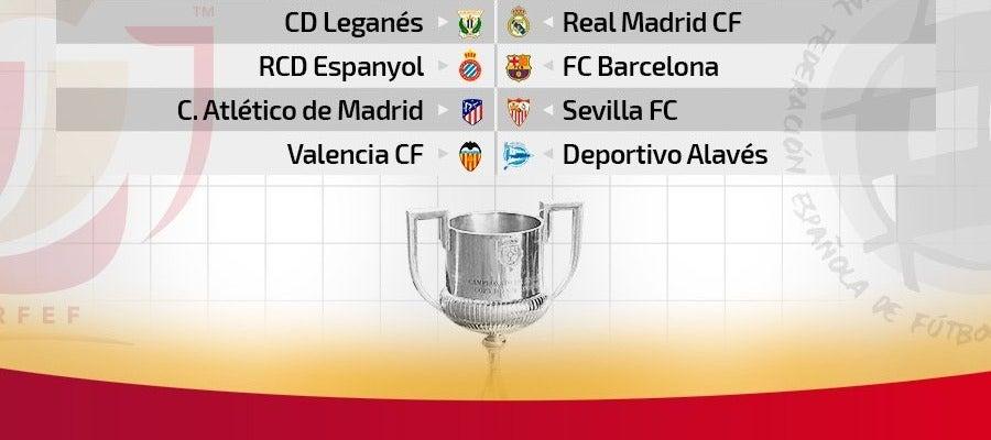 Legánes-Real Madrid, Espanyol-Barça, Atlético de Madrid ...