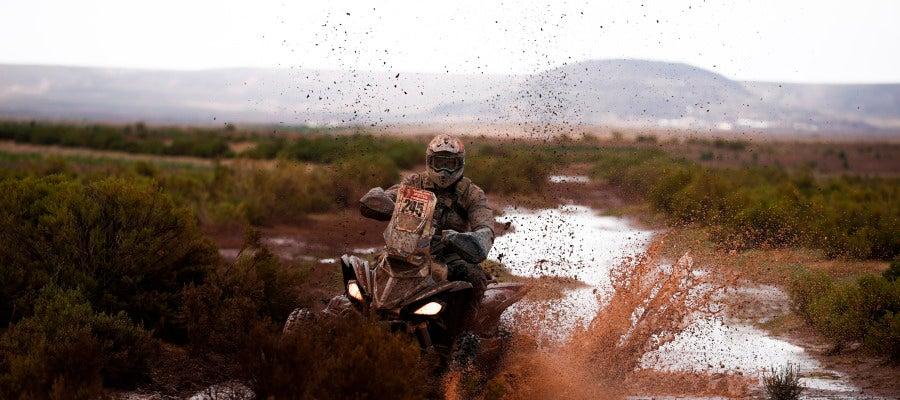 Durante una etapa del Dakar