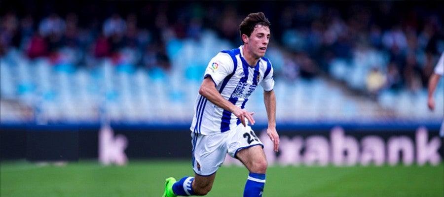 El lateral de la Real Sociedad, Álvaro Odriozola.
