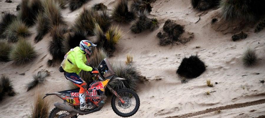 Antoine Meo durante el Dakar