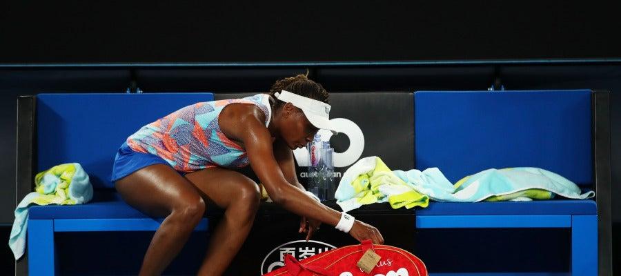 Venus Williams, eliminada a las primeras de cambio en el Open de Australia